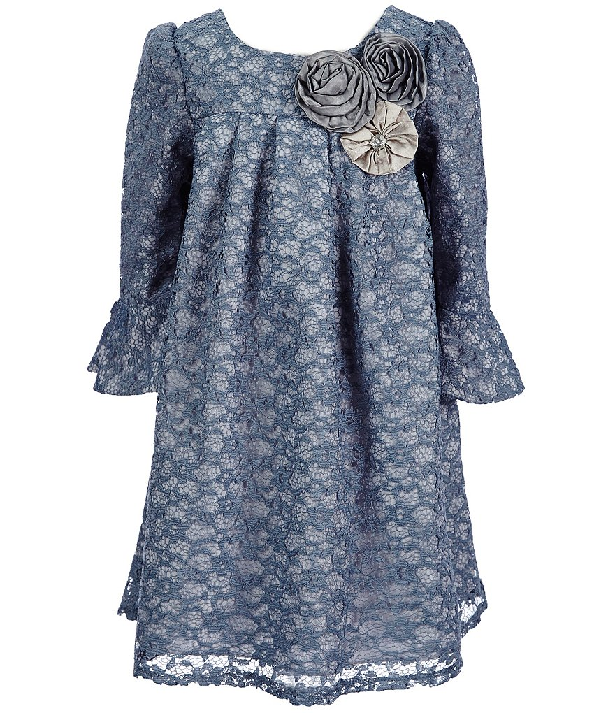 Laura Ashley London Little Girls 2T-6X Lace Floral-Appliqué Dress