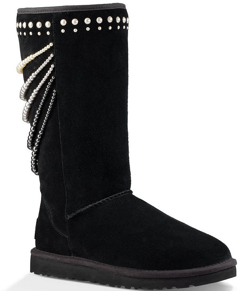UGG® Calais Swarovski® Pearl Detailed Suede Boots