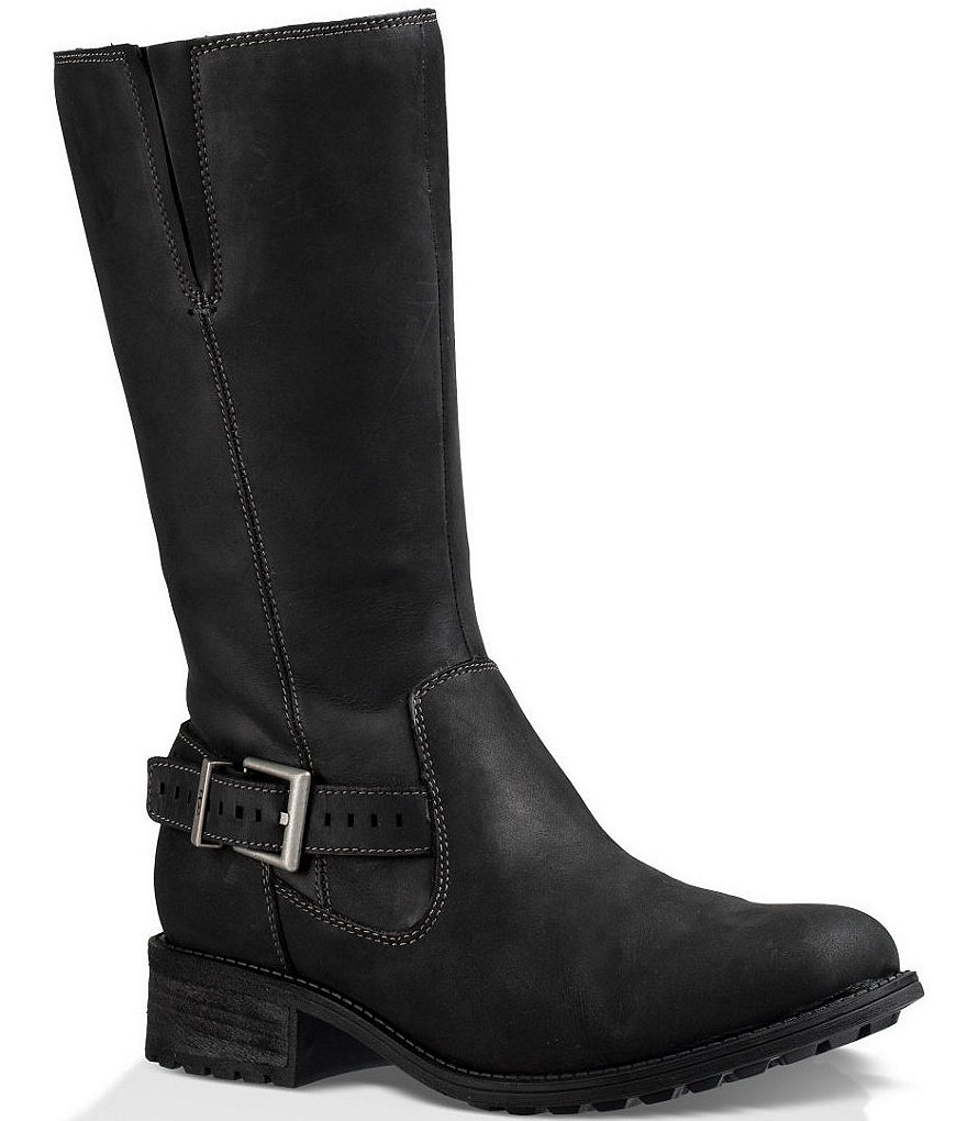 UGG® Langton Water-Resistant Leather Strap Tall Boots
