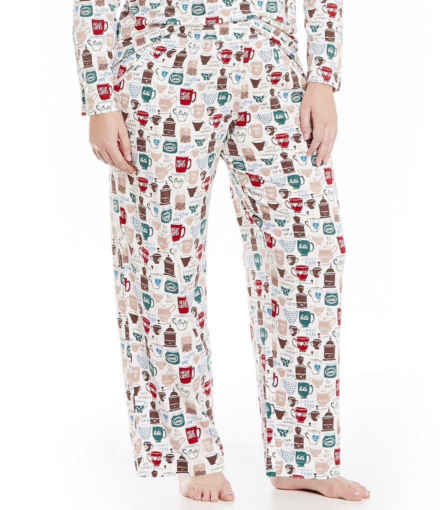 Sleep Sense Plus Coffee & Tea-Print Sleep Pants
