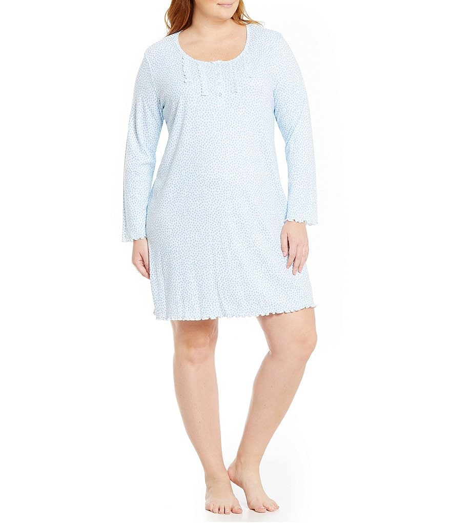 Miss Elaine Plus Dotted Nightgown