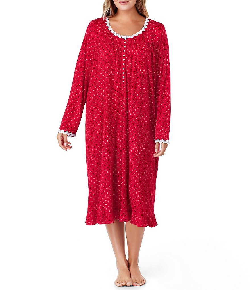 Eileen West Plus Dotted Waltz Nightgown