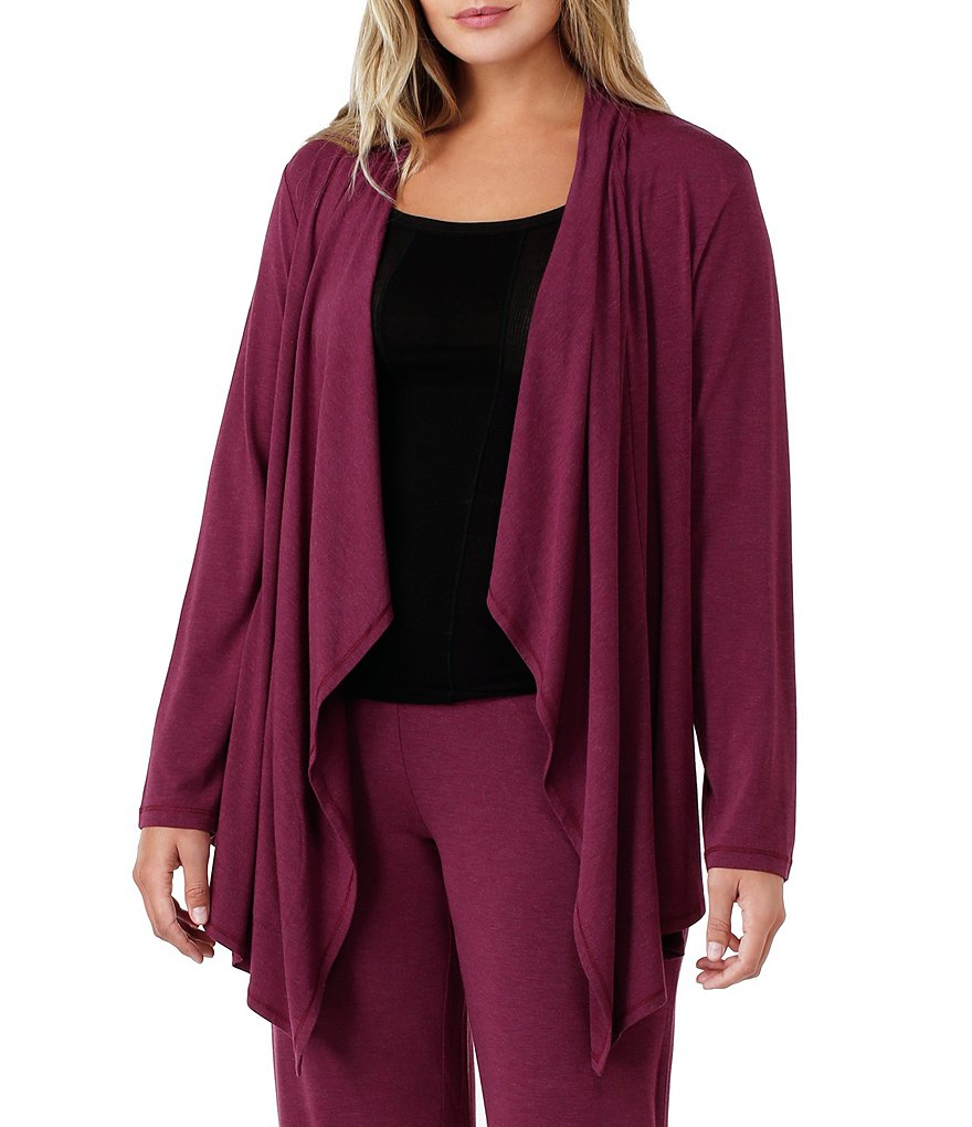 DKNY Plus Cozy Jersey Lounge Cardigan