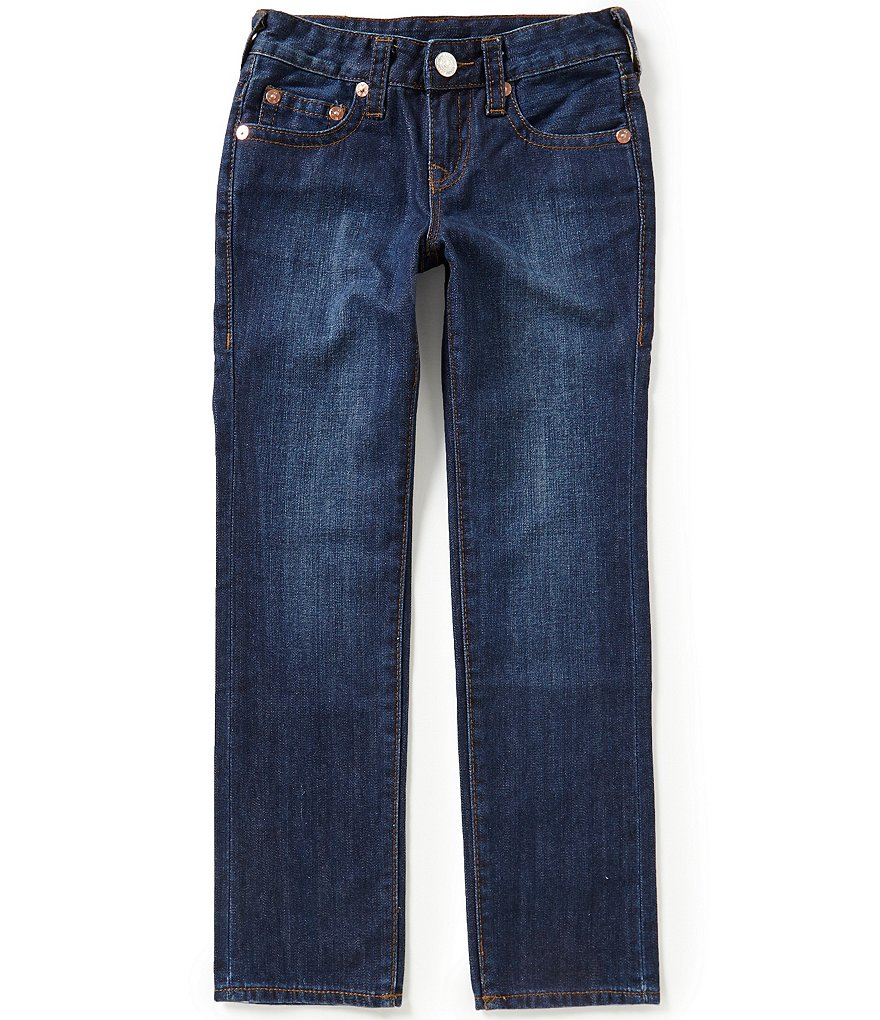 True Religion Big Boys 8-20 Geno Relaxed Slim Distressed Jeans
