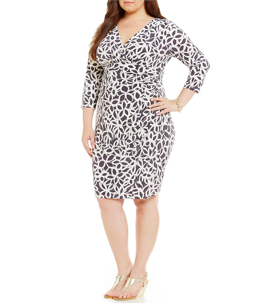 Lauren Ralph Lauren Plus Floral-Print Matte Jersey Dress