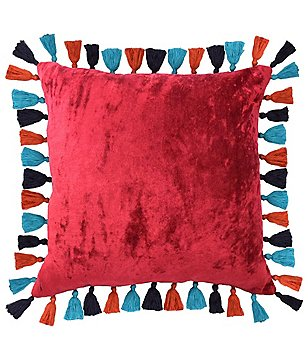 Blissliving HOME Mexico City Collection Macarena Velvet Tassel Pillow
