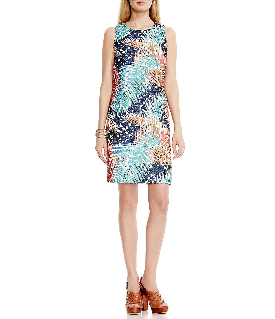 Vince Camuto Tropical Mystique Printed Lace Dress