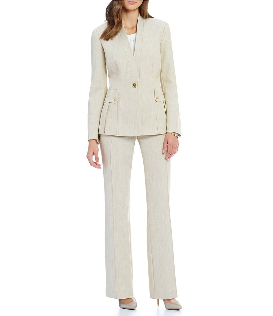 John Meyer 2-Piece Wide-Leg Pant Suit