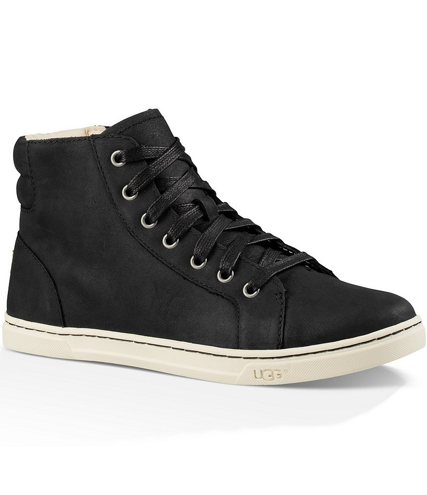 UGG® Gradie Lace Up High Top Water Resistant Leather Sneakers