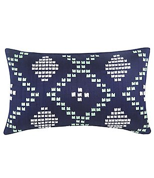 Blissliving HOME Dillon Embroidered Silk Accent Pillow