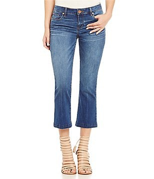 See Thru Sou Release Hem Cropped Flare Jeans