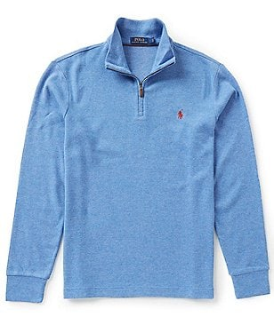 Polo Ralph Lauren Cotton-Blend Mock Neck Half-Zip Pullover