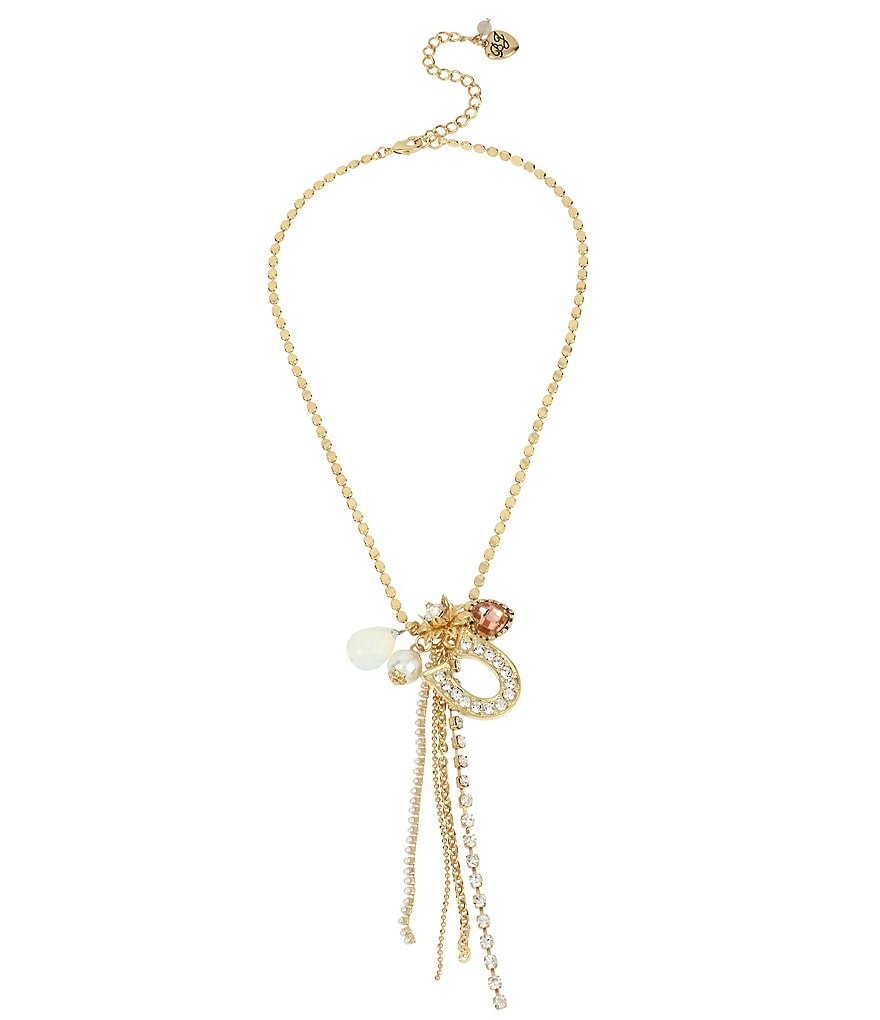 Betsey Johnson Gold Charm Y-Necklace