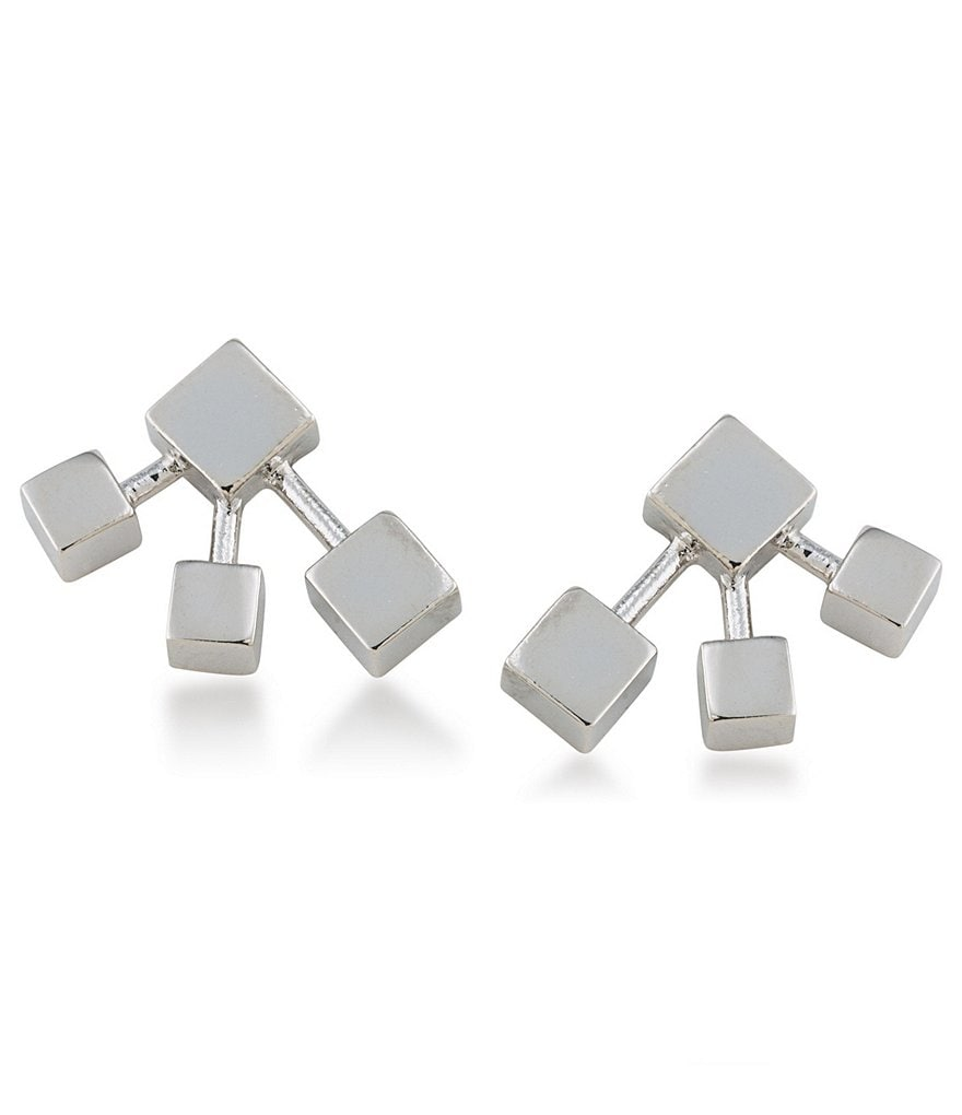 Trina Turk Silver Lining Geometric Stud Earrings