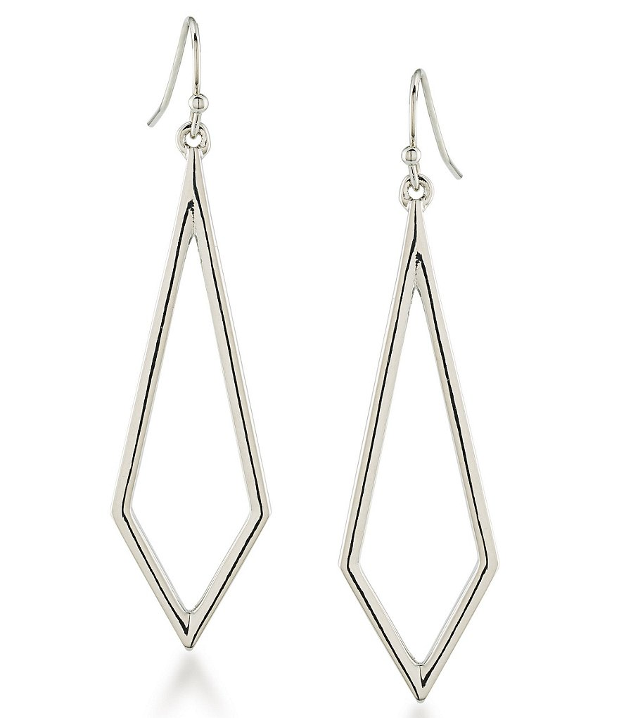 Trina Turk Silver Lining Diamond-Shaped Drop Earrings