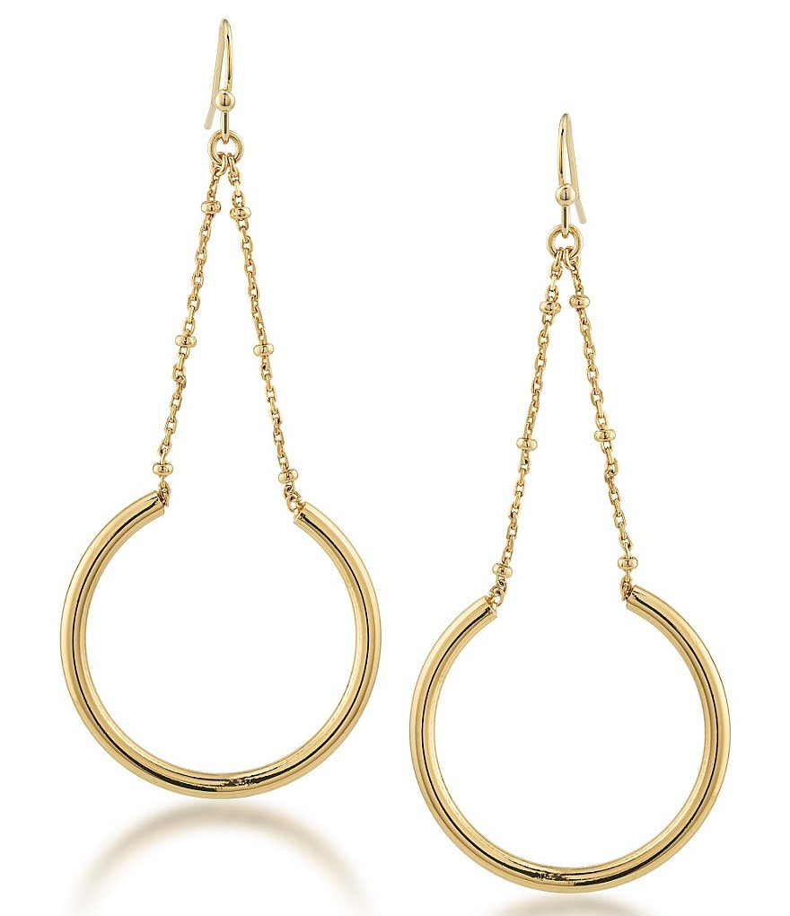 Trina Turk Psychedelica Linear Circle Drop Earrings