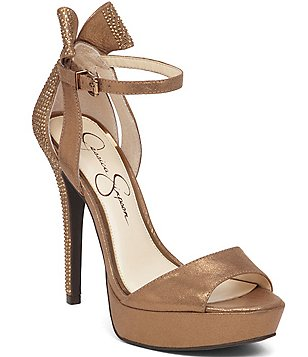 Jessica Simpson Baani Metallic Platform Bow Detail Sandals