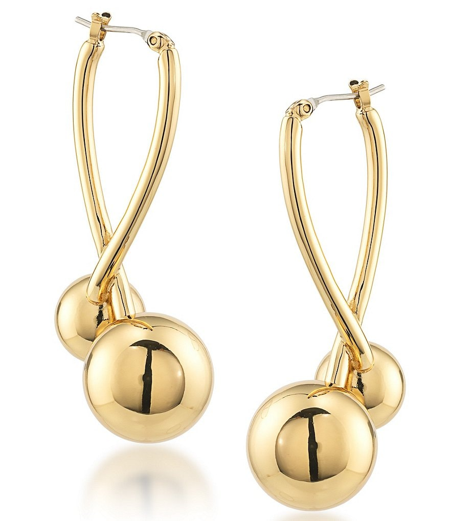 Trina Turk Psychedelica Double-Ball Hoop Earrings