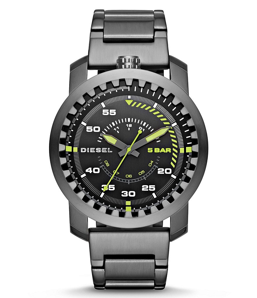 Diesel Rig Men´s 3 Hand Chronograph Stainless Steel Bracelet Watch
