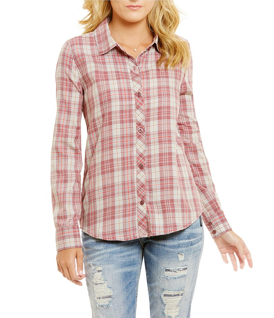 O´Neill Birdie Plaid Button Down Top