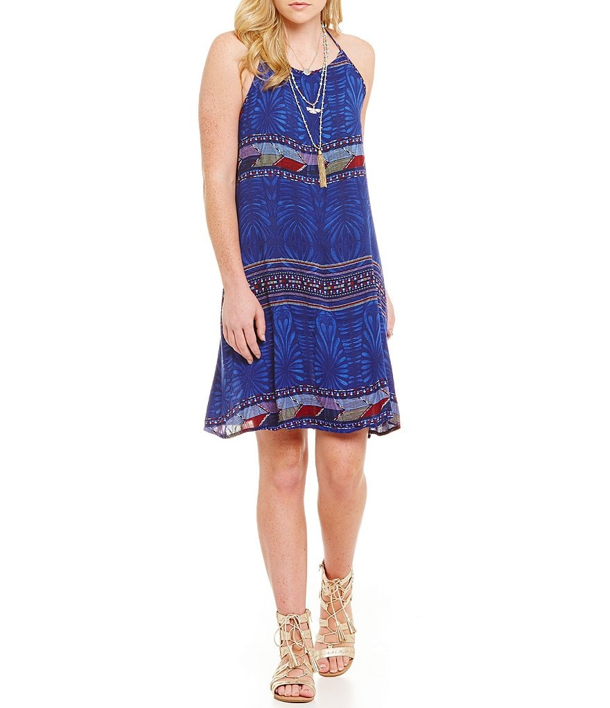 Roxy Sand Roast Printed Halter Dress