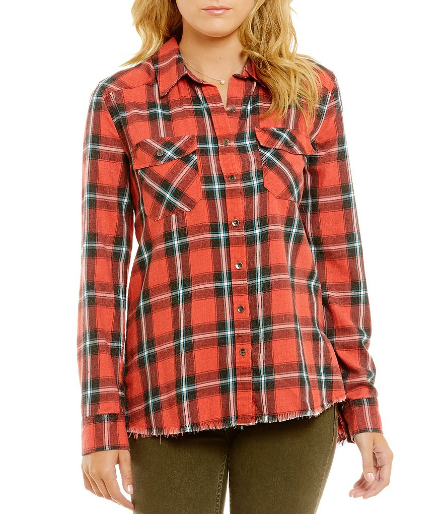 Billabong Plaid Flannel Frenzy Top