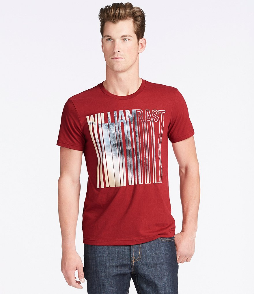 William Rast Dripping Logo Graphic Tee