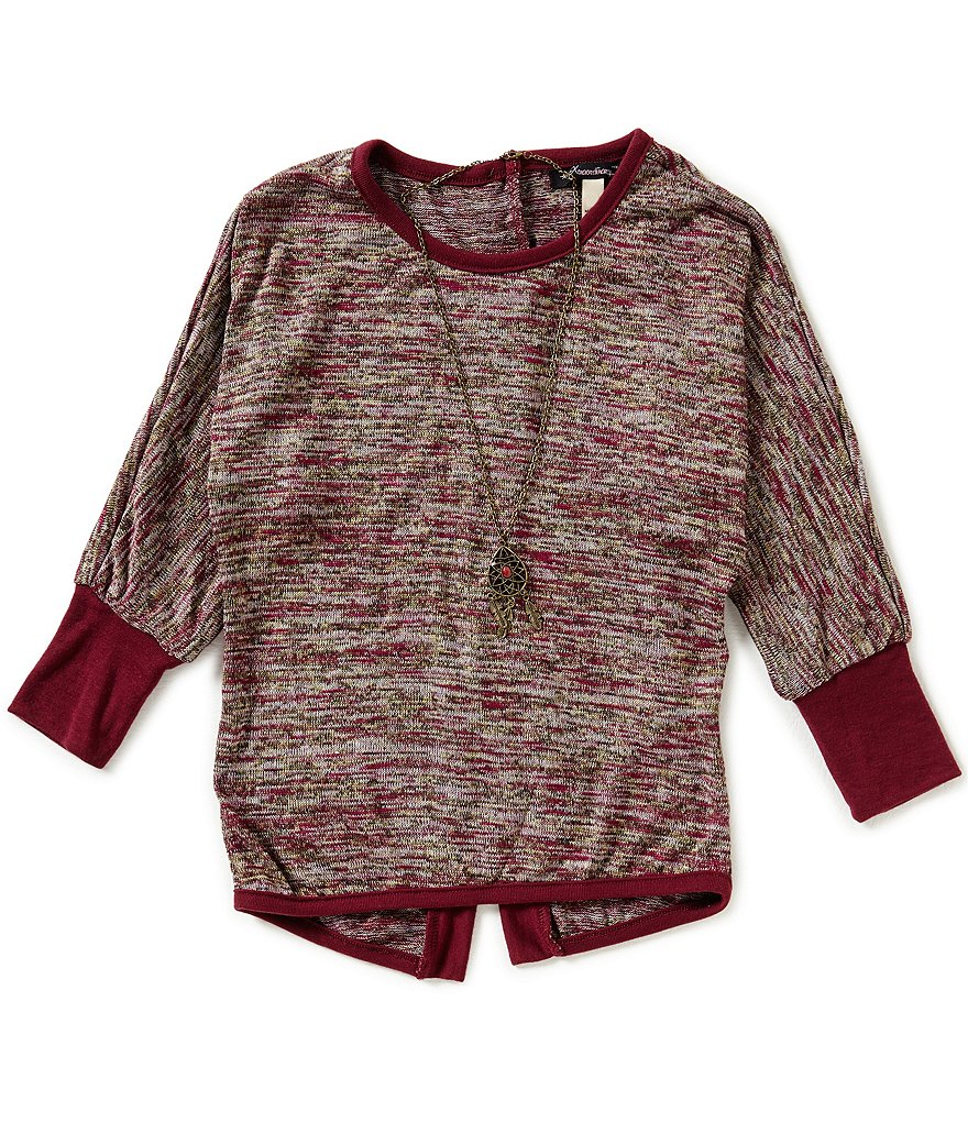 Xtraordinary Big Girls 7-16 Split-Back Dolman Top