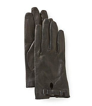 Dillard´s Bow Leather Gloves