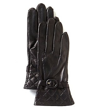 Dillard´s Quilted-Cuff Leather Gloves