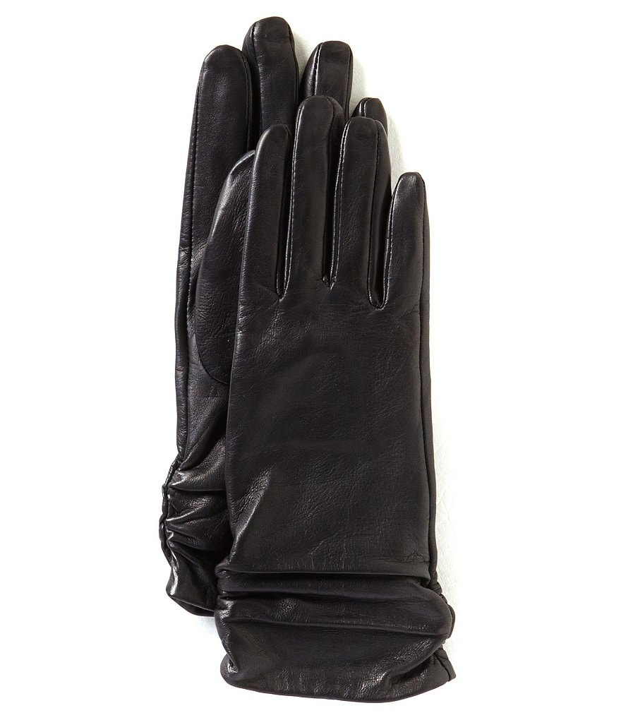 Dillard´s Ruched Leather Gloves
