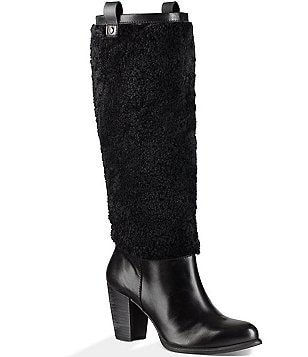 UGG® Ava Exposed Fur Tall Shaft Boots