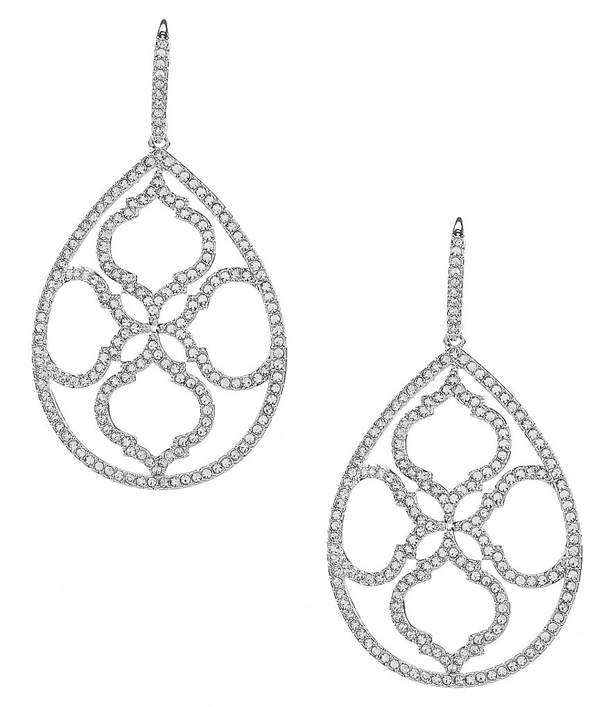 Nadri Mandala Crystal Drop Earrings