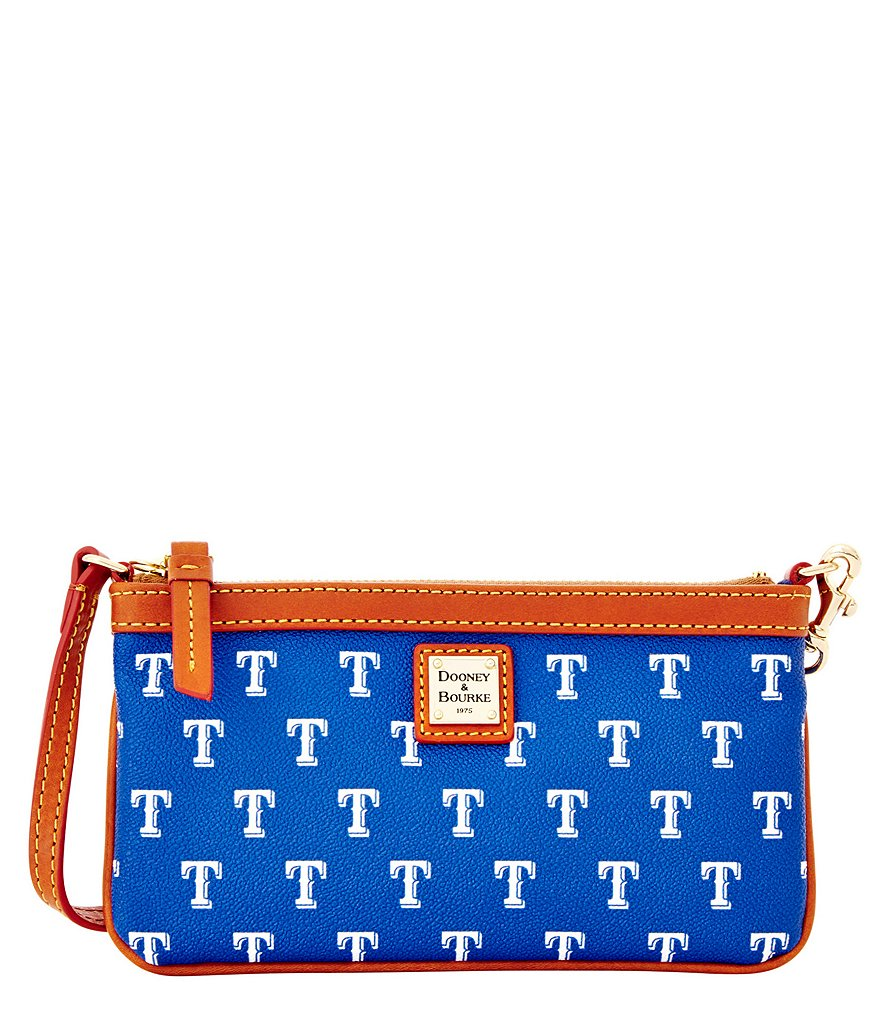 Dooney & Bourke MLB Collection Texas Rangers Large Slim Wristlet