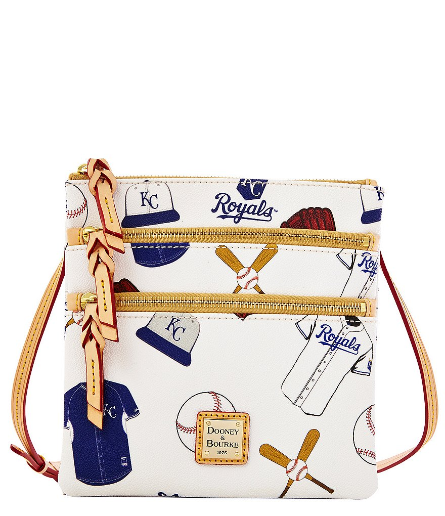Dooney & Bourke MLB Collection Kansas City Royals Triple-Zip Cross-Body Bag