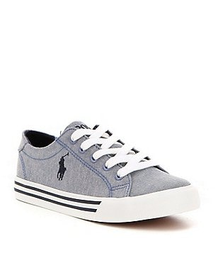 Polo Ralph Lauren Boy´s Slater Chambray Denim Lace Up Sneakers