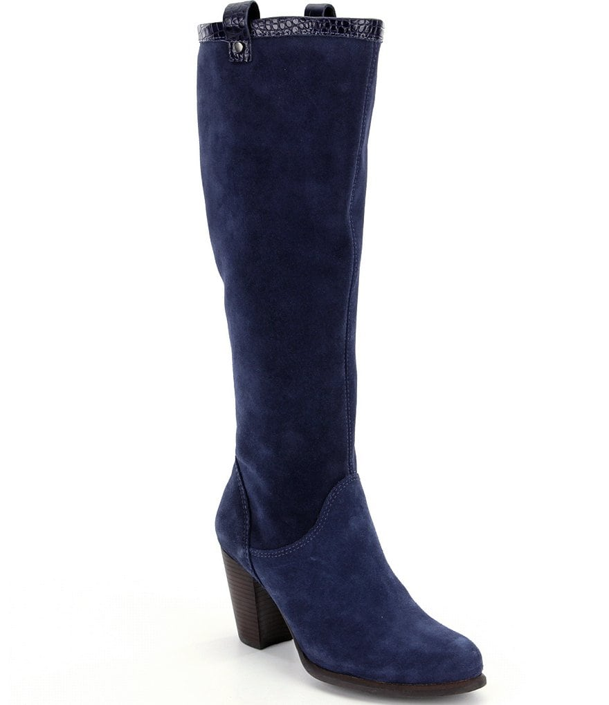 UGG® Ava Croco Tall Shaft Suede Boots