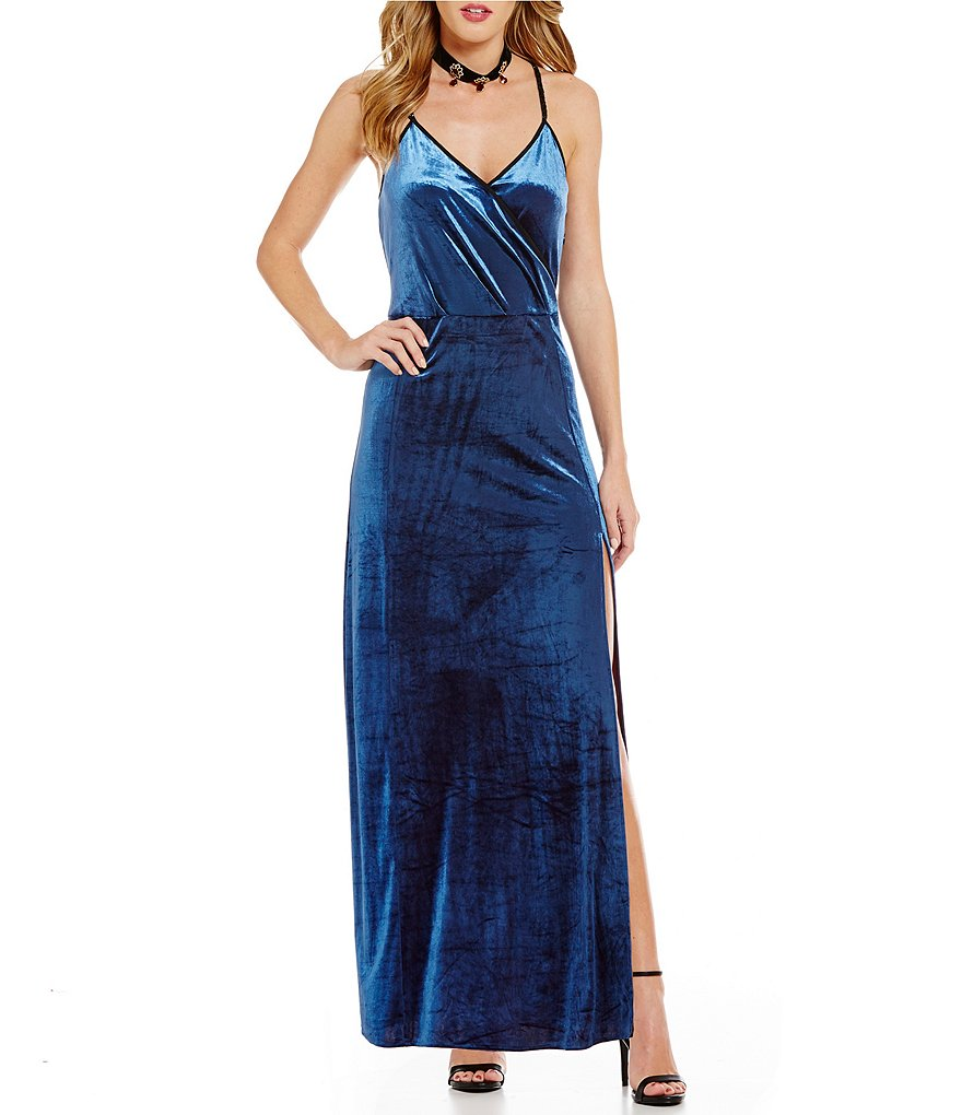 Buffalo David Bitton Lexy Velvet Maxi Dress