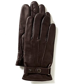 Murano Buckled Leather Gloves