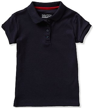 Nautica Little Girls 2T-6X Short Sleeve Polo