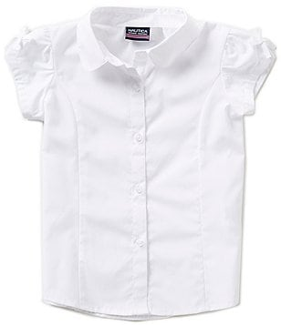 Nautica Little Girls 4-6X Poplin Button-Down Blouse