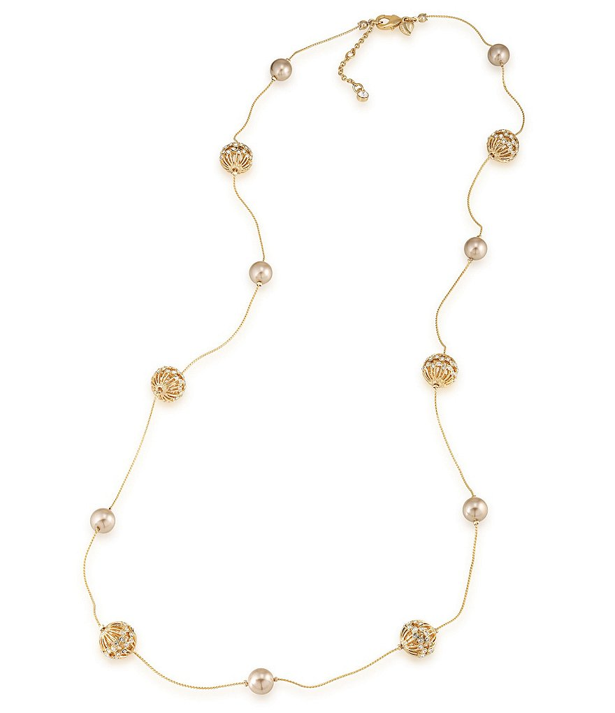Carolee Union Square Faux-Pearl Station Necklace