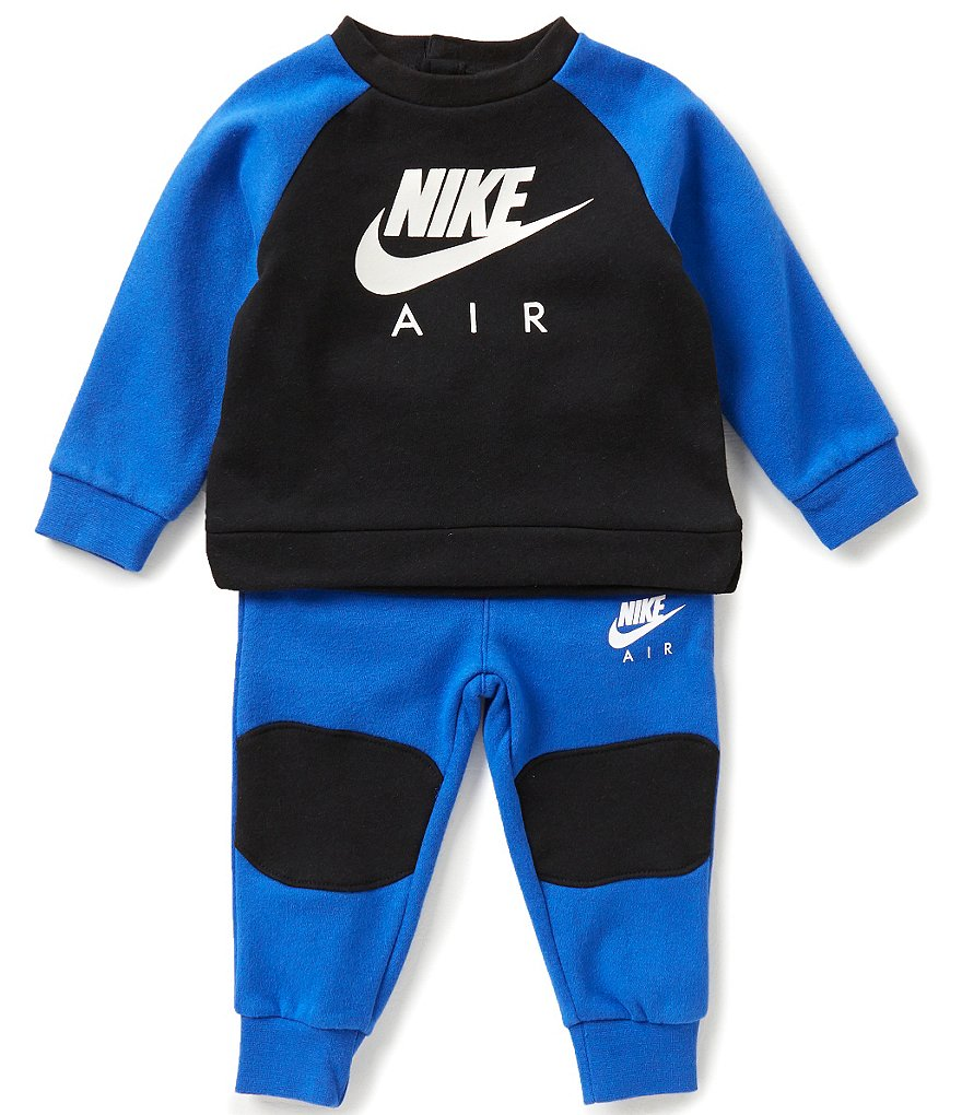 Nike Air Baby Boys 12-24 Months Core Fleece Color Block Tee & Pant Set