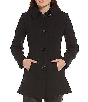 kate spade new york Fit-and-Flare Short Wool Coat