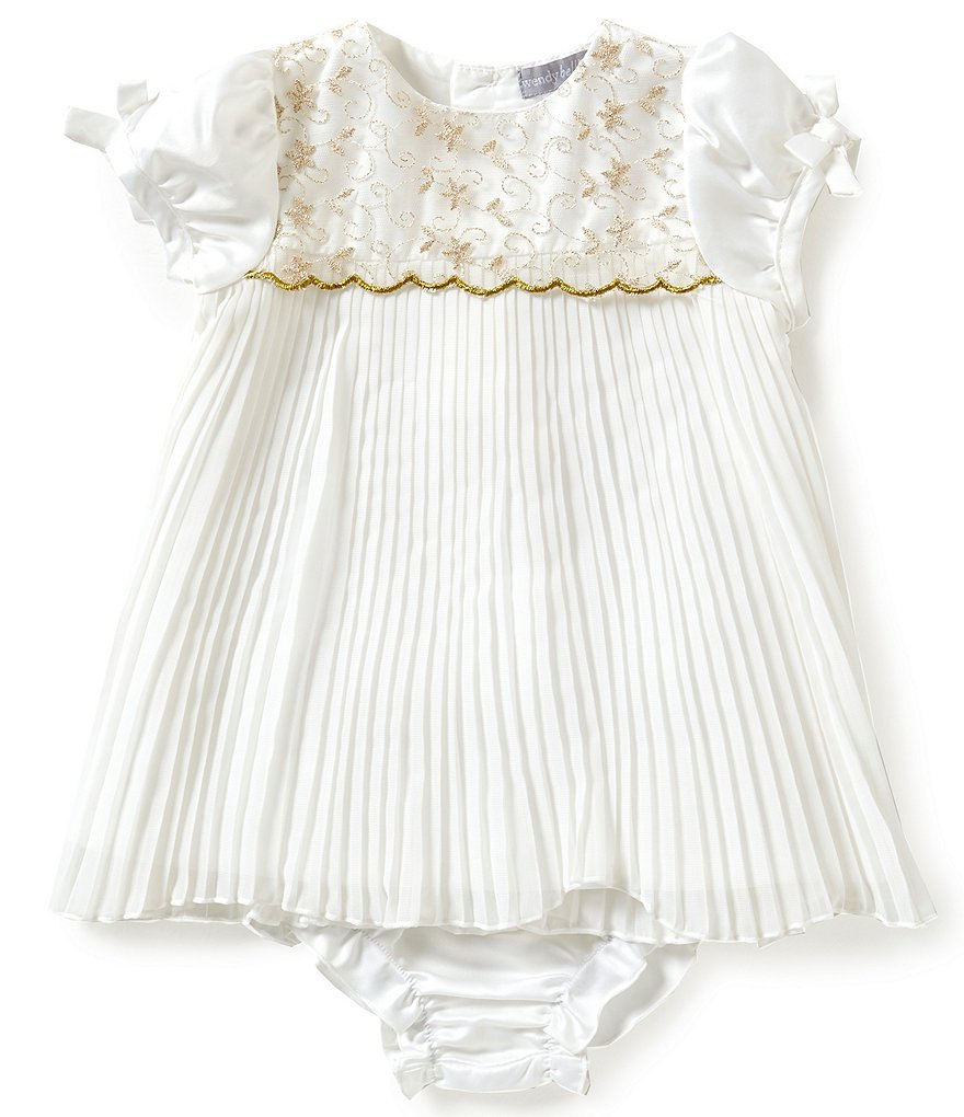 Wendy Bellissimo Baby Girls 3-9 Months Floral-Pleated Dress