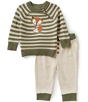 Wendy Bellissimo Baby Boys 3-9 Months Fox-Appliqué Top and Pants Set