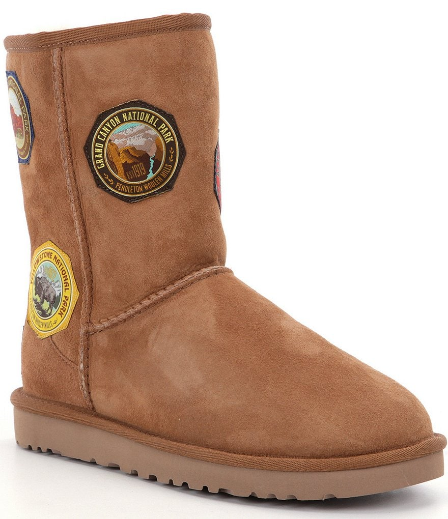 UGG® Classic Short National Park Patch Boots