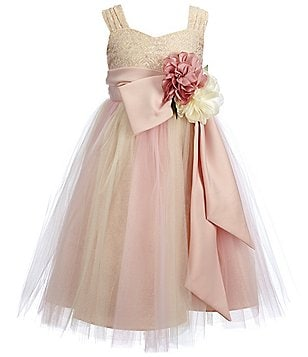 Chantilly Place Little Girls 2T-6X Brocade Ballerina Dress