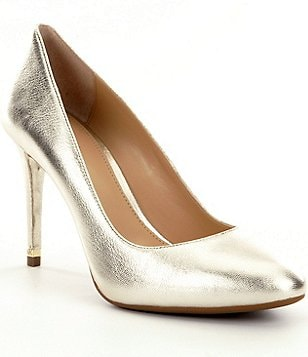 MICHAEL Michael Kors Ashby Metallic Leather Pointed Toe Flex Pumps