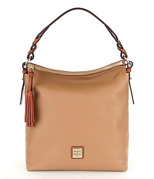 Dooney & Bourke Pebble Collection Small Sloan Tasseled Hobo Bag